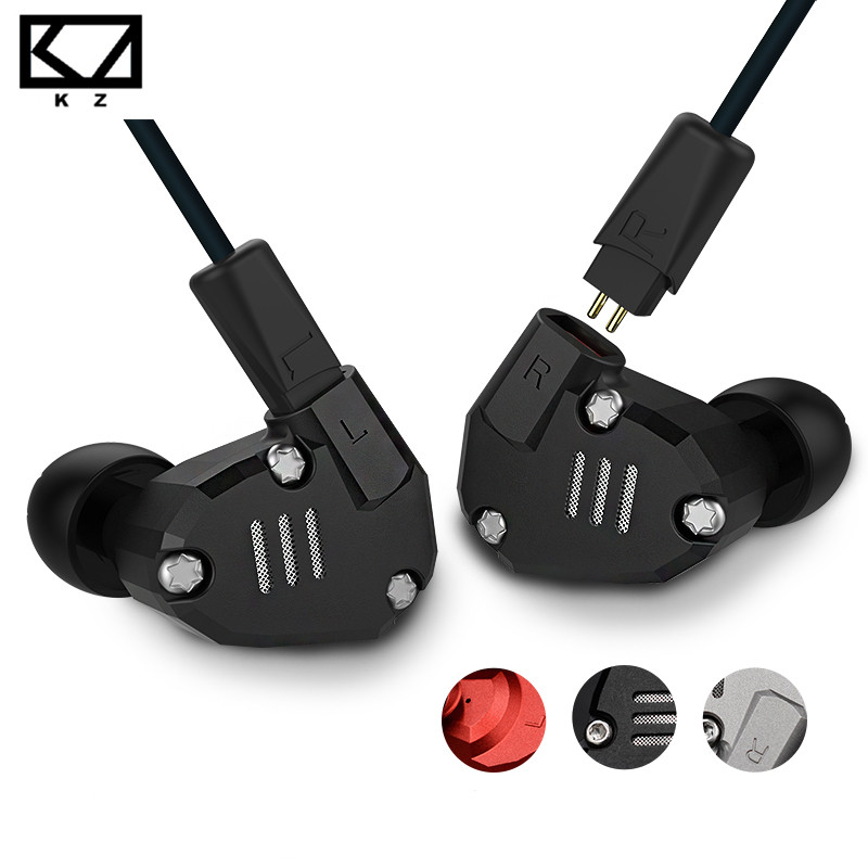 KZ ZS6 Eight Driver Earphone Dynamic And Armature In Ear HIFI Stereo Sport Headset Detachable Bluetooth Upgrade Cable Original kz ates ate atr hd9 copper driver hifi sport headphones in ear earphone for running with microphone game headset