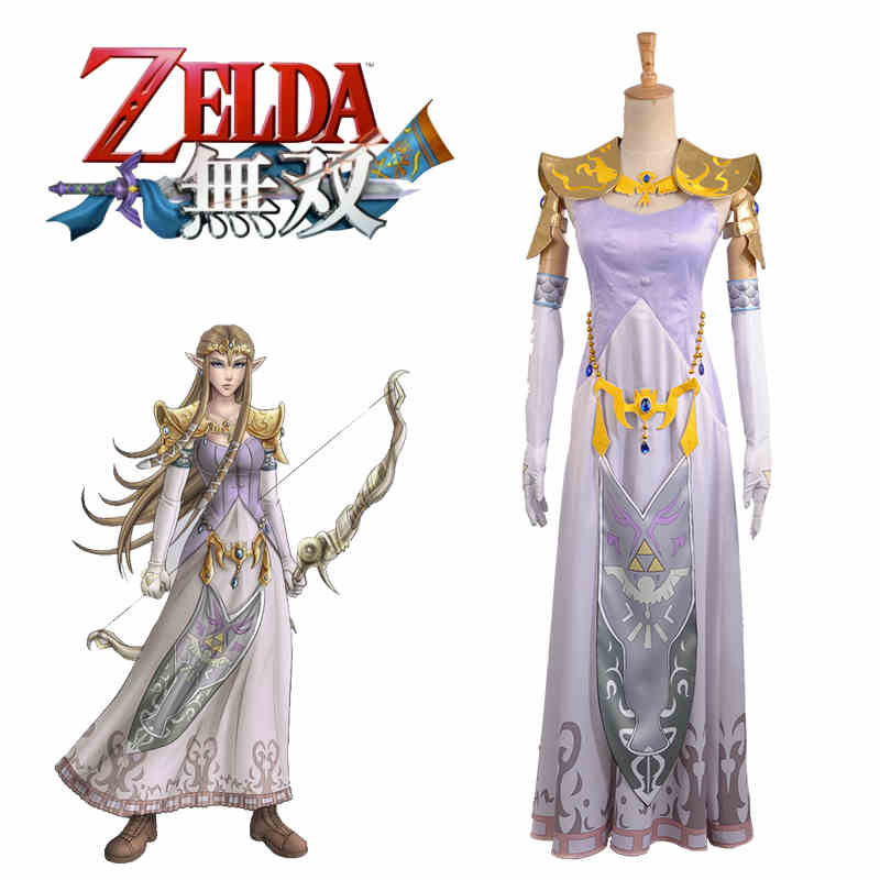Us 119 5 Anime The Legend Of Zelda Hyrule Warriors Zelda Princess Lolita Dress Sexy Uniform Cosplay Costume Custom Made Free Shipping On Aliexpress