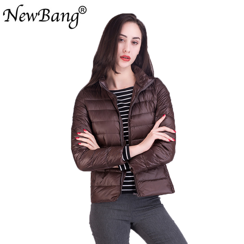 NewBang Plus 17 Colors Women's   Down     Coat   Stand Collar Ultra Light   Down   Jacket Female Windbreaker Thin Feather Portable Jackets