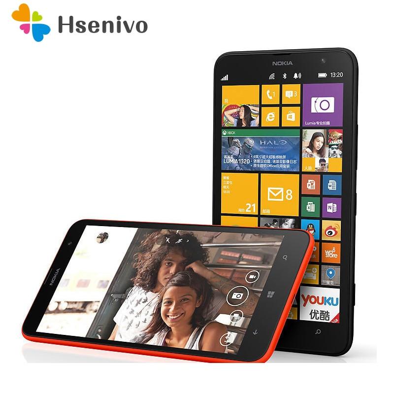 1320 разблокирована оригинальный Nokia Lumia 1320 Оконные рамы телефон 8 Черный Dual Core 1 г Оперативная память 8 ГБ 5mp Камера 6.0 дюйм(ов) WI-FI GPS 4 г сотовом т…
