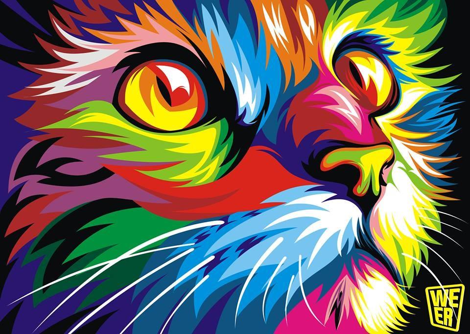 Cuadros Decoracion Pop Art Abstract Animal Oil Painting On
