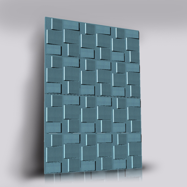 Concave-convex pattern concrete wall brick silicone mould decorative background wall cement gypsum mould