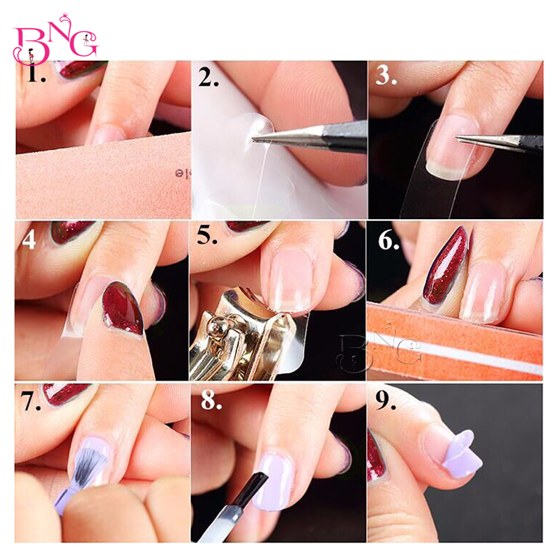 5Sheets/Pack Transparent Nail Guard Glue Fast Peel Off Easy Clean ...