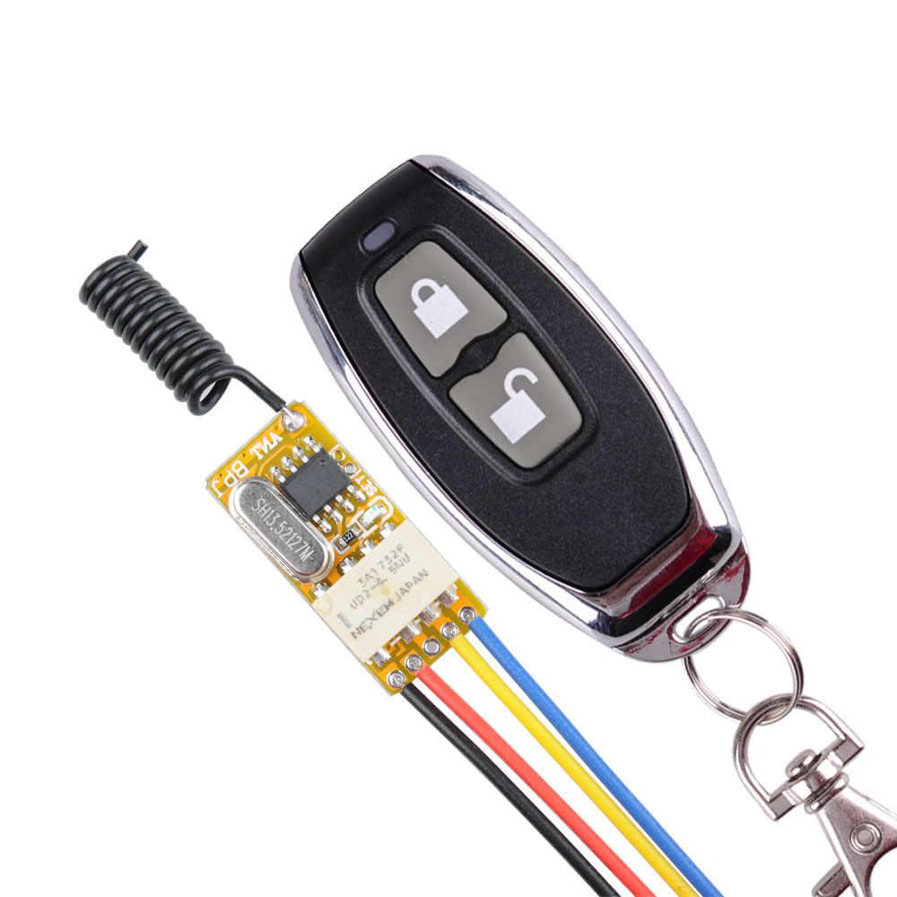 Commutateur sans fil 3.7 V 5 V 6 V 7.4 V 9 V 12 V opérateurs de porte automatique télécommande interrupteur porte bouton ouvert refit ouvre-porte