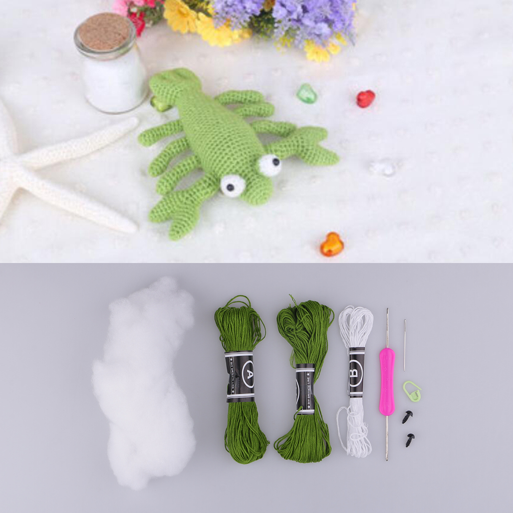 Handmade DIY Lobster Doll Toy Crochet Kit Amigurumi Kit for Kids Beginners Crafts manguera expandible