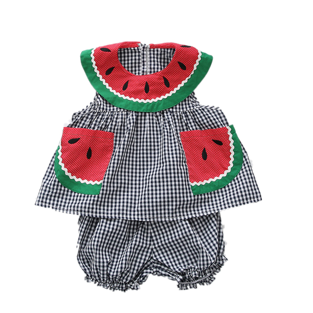 6f0a1bd87a60 Kid fashion Baby Girl Watermelon Dress New toddler girls summer clothing  set sleeveless Children Clothing baby
