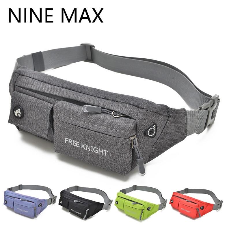 New Fashion Multifunctional Nylon Waterproof  Belt Waist Bag Colorful Walking Women Men Travel Fanny Pack Shoulder Bum Bags
