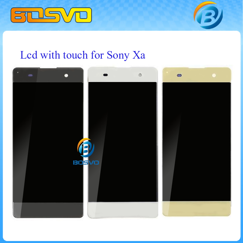 ФОТО White Black LCD display Screen with touch digitizer compete For Sony for Xperia XA F3111 XA F3112 10pcs free DHL EMS shipping