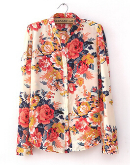 Plus Size Clothing New Fashion Spring European Vintage font b Floral b font Print Long Sleeve