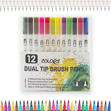 12/18/24/36 Colors Water Color Pen Set With PP Package For Coloring Books coloring europe london greece croatia italy france 5pcs set coloring books tour of the world adult coloring books
