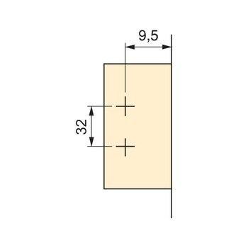 EMUCA 1018607-lot 20 Düz Menteşeler C50 Diyaframlı 105 ° Ve Takviyeler Vidalama