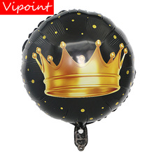 VIPOINT PARTY 18inch black glod crown wedding event christmas halloween festival birthday party HY-94