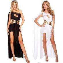 69d5ab67e Sexy Greek Goddess Dress Black White Roma Princess Female Warrior Hen Party Fancy  Dress(China