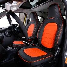 أغطية مقاعد السيارة الجلدية ، مجموعات كاملة ، ديكور أمامي ، وسادة مسامية لجميع الفصول ، لمرسيدس الجديدة سمارت 453 فورتو 15 2020