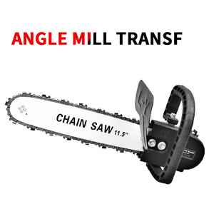 Image 2 - FNICEL 11.5 Inch M10/M14/M16 Chainsaw Bracket Changed Upgrade Electric Saw Parts 100 125 150 Angle Grinder Into Chain Saw
