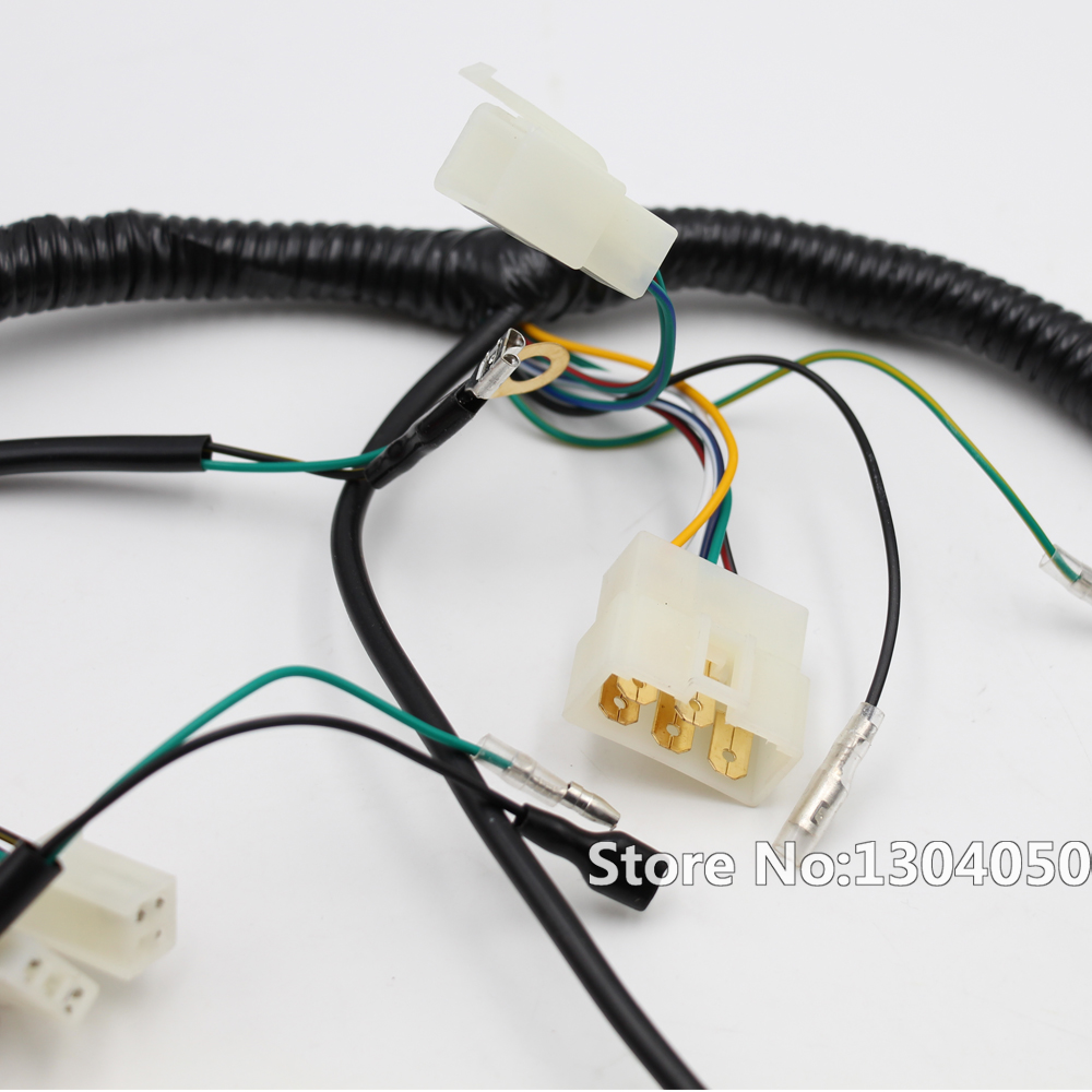 quad wiring harness 150cc 200cc 250cc 300cc chinese electric start  quad wiring harness 150cc 200cc 250cc 300cc chinese electric start loncin zongshen ducar lifan 6 1 5 1 7 1