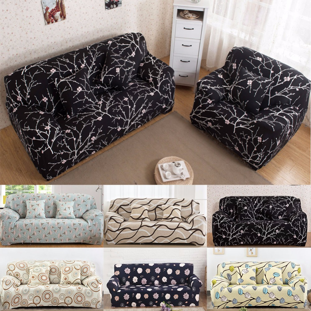 Universal Stretch Sofa Covers Furniture Protector Polyester Modern Loveseat Couch Cover Sofa Towel 1 2 3