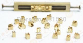 UM conjunto de letras de A a Z 26 Hot stamping molde de cobre die (1.75 centímetros de altura) + um kits de fixação|set of|set stampingset die -