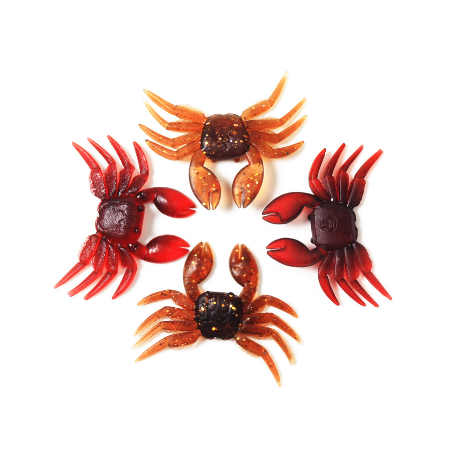 Stone Forest Fishing Lure Soft Rubber Crab Simulation Soft Baits Blanks Mollusc 7 8g 8cm Red Brown Bionic Carp Peche Fishing in Fishing Lures from Sports Entertainment