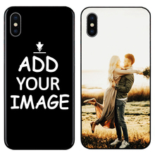 Custom Personalized Make your Photo pattern images Phone Black Sotf TPU Cover Case for iPhone 6 6S 7 8 Plus 5s 5 X XR XS MAX