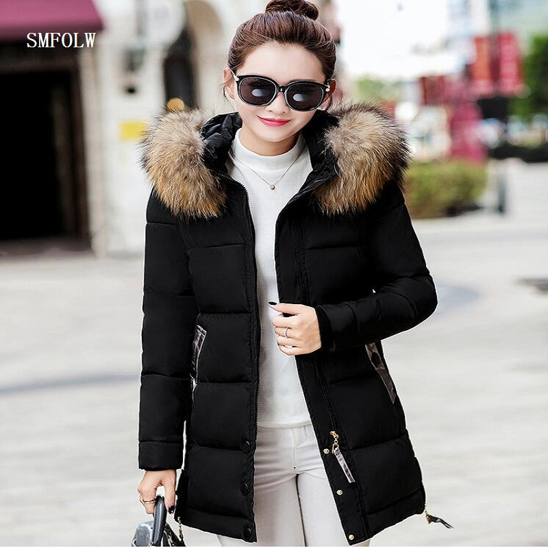 winter jacket women 2017 fashion slim long cotton-padded Hooded jacket parka female wadded jacket outerwear winter coat women цены онлайн