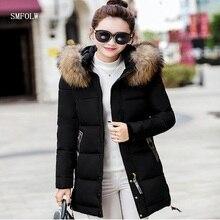 Зимняя куртка 2017 г. женские модные тонкие длинные с хлопковой подкладкой куртка с капюшоном куртка Женский Стеганая куртка, верхняя одежда зимняя куртка женские