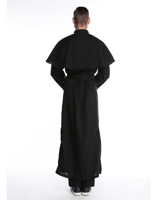 MOONIGHT Halloween Costumes Adult Mens Costume European Religious Men Priest Uniform Fancy Dress Cosplay Costume for Men 3