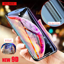 Suitable for iPhone X XR XS Max Screen Protector 8 7 6 6s Plus Protective Film Dustproof 9D Curved Full Cover Tempere