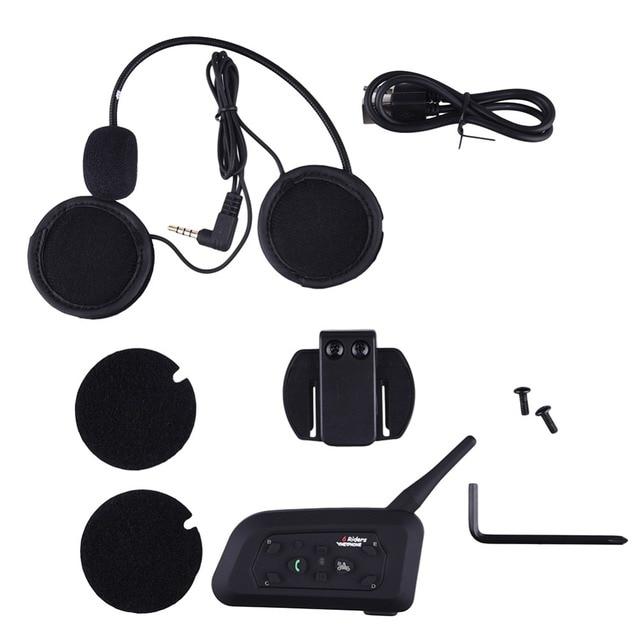 1200M Motorcycle Helmet Intercom 6 Riders BT Wireless Bluetooth Music Reciever Interphone intercomunicador Headsets MP3 EU plug