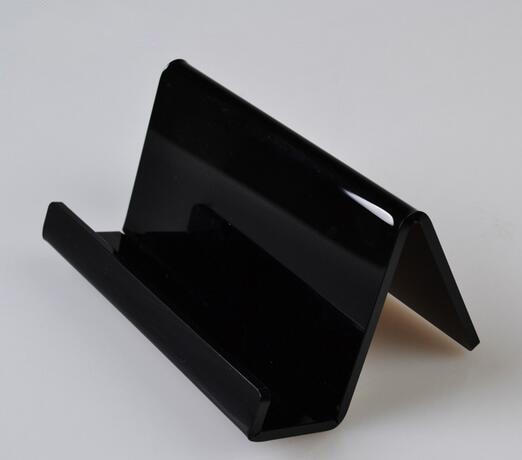 Ακρυλικός κάτοχος κάρτας καρτέλα επιφάνεια εργασίας stand τηλεφωνική βάση ράφι στέκεται