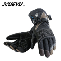 XUEYU Winter Motorcycle Gloves Full Finger Windproof Waterproof Motorcross Riding Gloves Snowboard Skiing Warm Gloves