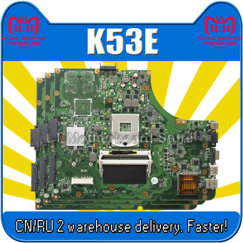 K53E Motherboard Rev:2.3 For ASUS A53E K53E X53E P53E K53SD A53S X53S K53SV Laptop motherboard K53E Mainboard K53E Motherboard k53sd rev 2 3 k53e motherboard for asus laptop 100