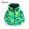 Baby Boys Dinosaur Hooded Jacket Set 2 Pieces Suit Waterproof  Coat Fleece Thicken Children's Rain Clothes Kids Clothing