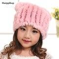 Новое поступление весной и зимой для девочка мальчик Ребенок шапки зимняя шапка рекс кролика меховые шапки прекрасный меховая шапка мода теплый шляпы