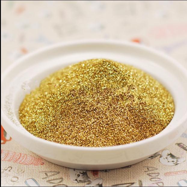 Livraison gratuite 100g Métal couleur d'or poudre de paillettes - Manucure