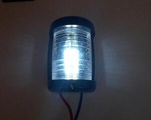 Image 4 - 12 V مركبة بحرية يخت LED البسيطة أضواء الملاحة الأبيض ستيرن ضوء الإبحار مصباح إشارة