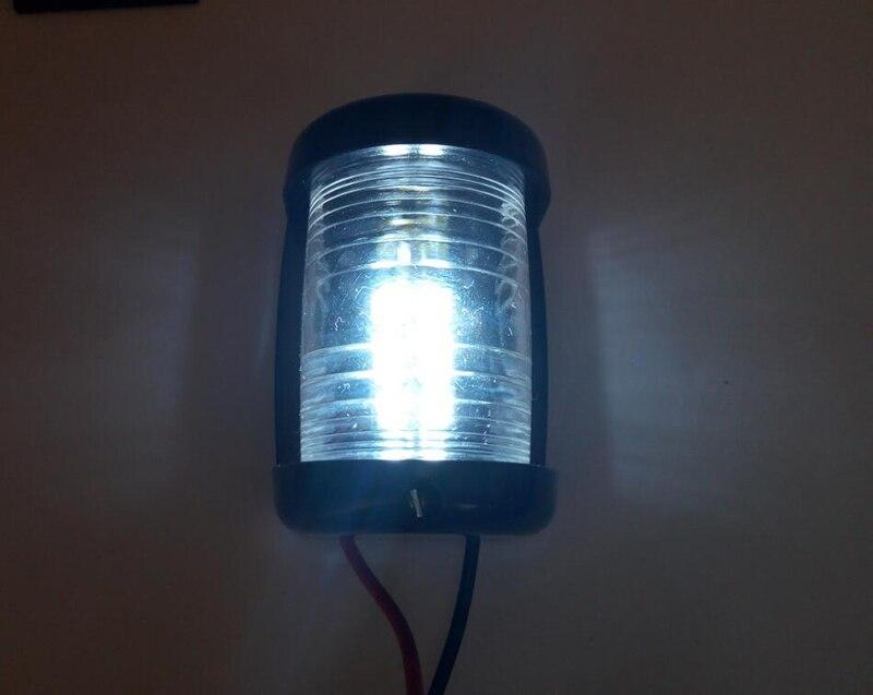 Image 4 - 12 V морской яхты светодиодный мини Навигационный свет белый кормовой фонарь сигнальная лампа для плавания-in Морское оборудование from Автомобили и мотоциклы