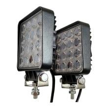 12V Spot Led Work Light Bar 48W 4inch Offroad Car Headlight for Truck Tractor Boat Trailer 4x4 SUV ATV Driving Lamp