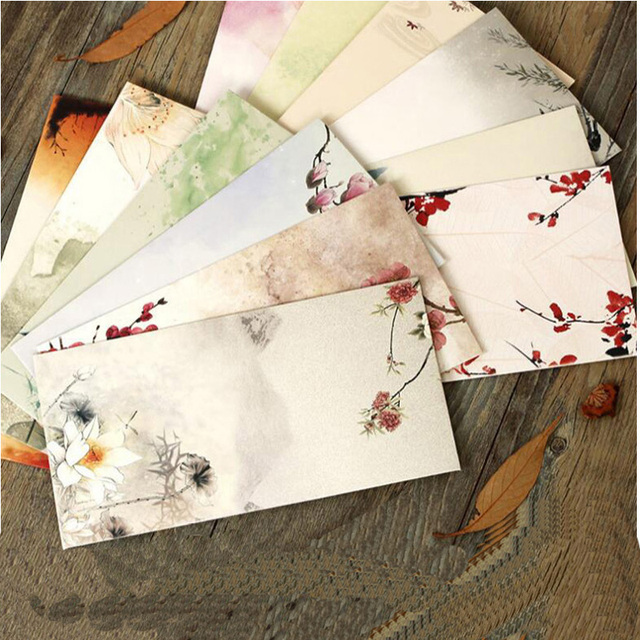 Free Shipping 30pcs Lot Chines Style Paper Envelopes For Invitations Wedding Invitation Envelope Set