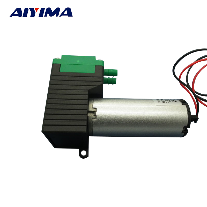 12V Small Vacuum Pump / High Vacuum Low Noise / Negative Pressure Air Exhaust Suction Pump / Diaphragm Pump 10W small vacuum pump 617cd32 small ac oil free vacuum pump