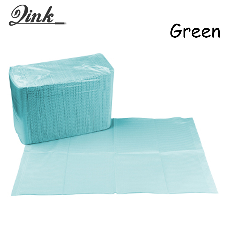 QINK 125pcs/lot Disposable Tattoo Tablecloths Clean Pad Waterproof Medical Paper Table M ...