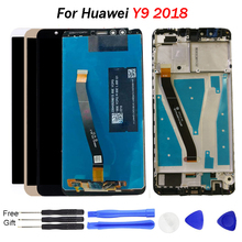 For Huawei Y9 2018 LCD Display Touch Screen Digitizer Assembly Enjoy 8 Plus with frame FLA-L22 FLA-LX2
