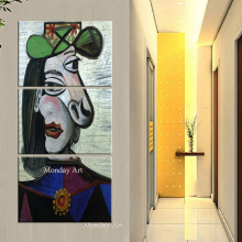 hand painted Pablo Picasso famous paintings dream girl abstract painting figure oil on canvas Modernism Cubism Wall Art