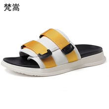 Slippers men 2019 new summer fashion comfortable outside wearing a word drag men beach shoes men outdoor anti-skid flip flops brand creative fish shaped male slippers flip flops summer outdoor drag men and women beach shoes fish slippers new
