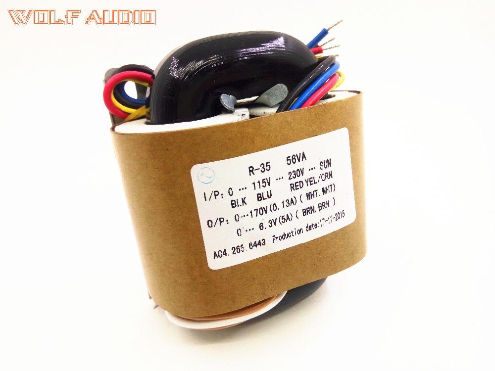 YS 220 V/115 v 50 W (50VA) R-Core Transformateur Pour Tube Amplificateur préampli/DAC/Casque 170 V + 6.3 V