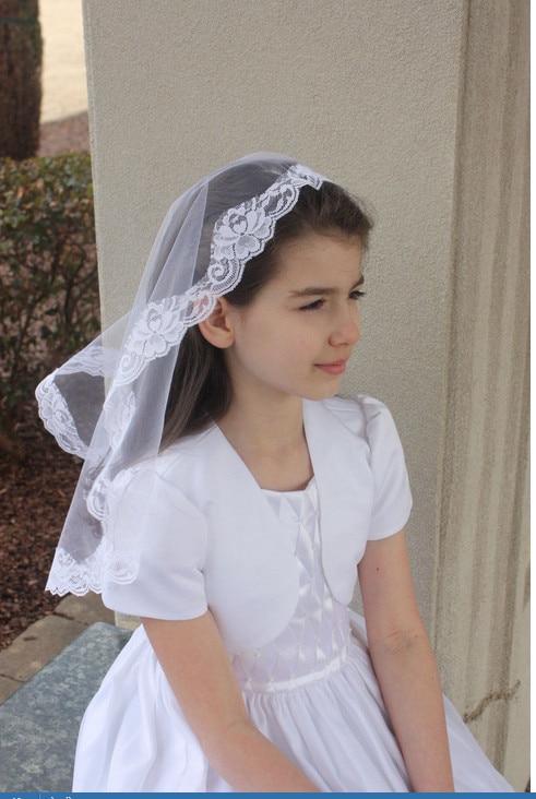 New Girls White First Communion Veil Flower Girl Child