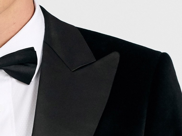 De Solapa Hombres Color Black Desgaste Fumadores Formal Cena Noche Negro Alcanzó Esmoquin Terciopelo Chaqueta custom La Breasted Traje Boda Los rBrqgwC