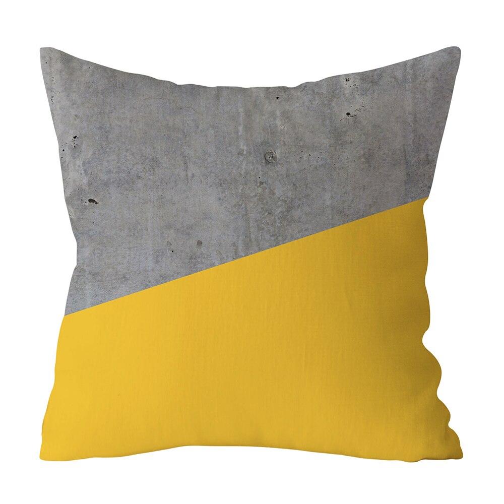 HTB1plTtXwmH3KVjSZKzq6z2OXXaA Polyester Geometric Cushion Yellow Pineapple Pillow Decorative Cushion for Sofa DIY Printed Pillow Seat Chair Cushion
