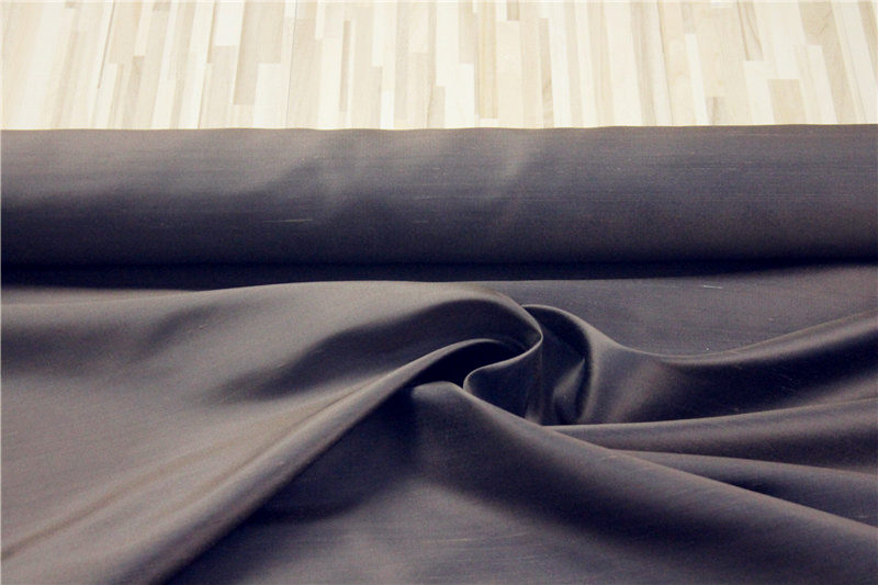100% silk fabric DUPIONI for dress pillow bedding,color:BROWN,width:114cm,thickness:17mm,sell by 3m,#10,YARN DYED