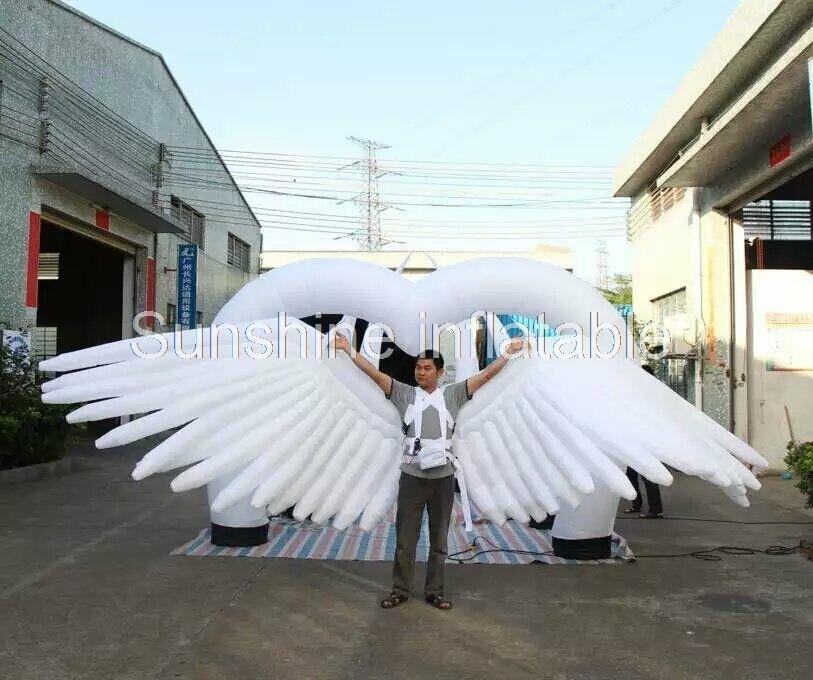 4 mlong festa decorativa cor em mudanca decoracao de palco inflavel asas de anjo gigante com